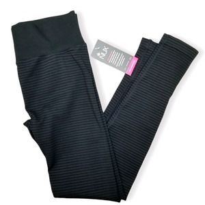 NUX Striped High Compression Leggings Size Large